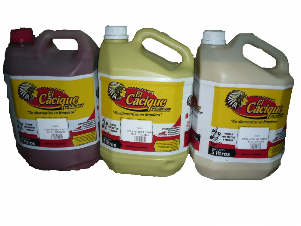 Todas CERA ACRILICA NATURAL X5LT..CACIQUE