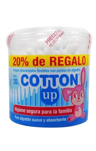 Todas HISOPO X120U (TARRO)..... COTTON UP