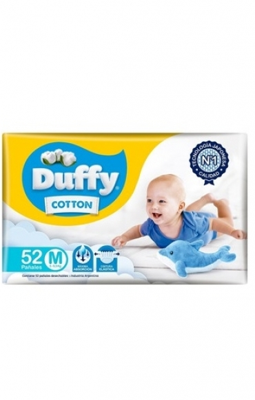 Todas PAÑALES BEBE COTTON X52.(M)...DUFFY